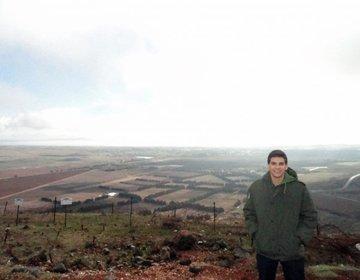Pico do Mount Bental com Vista para Síria e Golan Heights