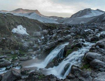 Valle de Aguas Caliente no Chile, cachoeira de águas termais
