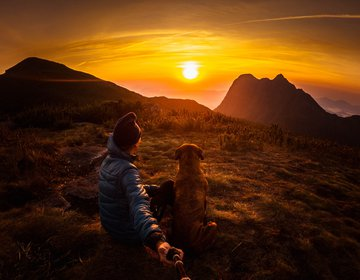 PICO ITAPIROCA com o Montanha, o cachorro montanhista