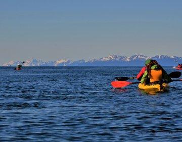 Kayak no Estreito de Magalhães
