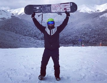 Snowboarding Cerro Bayo