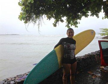 Surf na Baía do Araçá