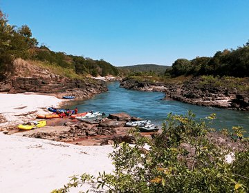 Remada de Bote pelo rio Araguaia (Ribeirãozinho/MT) - Jul/21
