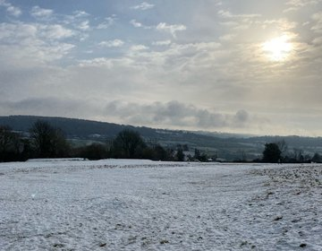 Snowy Hike In The Cotswolds