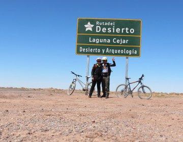 Pedalando em San Pedro de Atacama