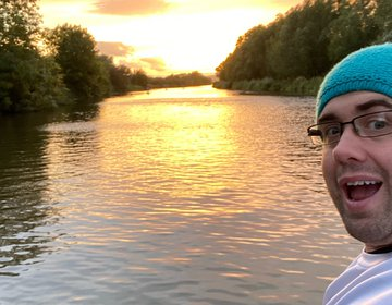 Sunset Paddle, Down The Severn Way Canal