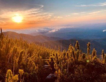 O melhor pôr do sol no Caratuva