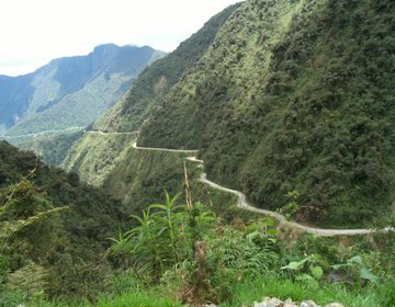 Downhill em Coroico