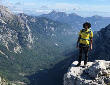 Trilha de montanha Triglav - ponto mais alto da Eslovênia
