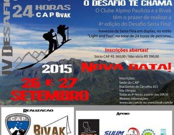 Desafio CAP e BIVAK Serra Fina 24 Horas