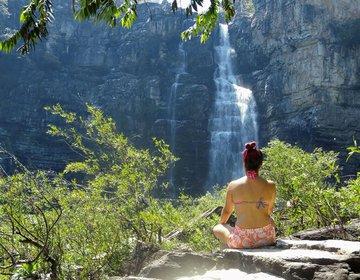 Cachoeira Salto de 80 mt, Chapada Dos Veadeiros-GO
