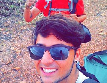 Nas Cachoeiras de Corumbá-Camping dos Caverna