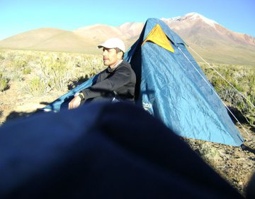 Acampamento no Altiplano Boliviano - 3450 m
