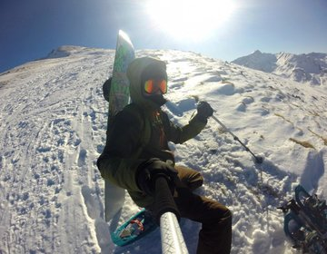 Snowboard Backcountry in Pic dels Pedrons