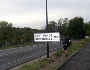 Chegada a Santiago de Compostela