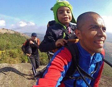Com a filhota na Pedra Grande Atibaia