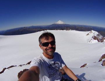 Glaciar na cratera do vulcão Quetrupillan - P.N.Villarrica